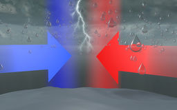 Wässern Sie Bombe, Himmelwolkensturmregen-Tropfenbildung Lizenzfreies Stockbild