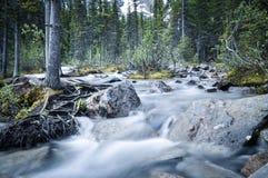 Wässern Sie das Hetzen in Moraine See Stockfotos