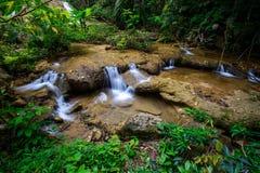Wässern Sie die Jahreszeit des Falles im Frühjahr, die im tiefen Regenwalddschungel gelegen ist Stockfoto