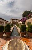Wässern Sie Merkmal im Generalife des Alhambra lizenzfreies stockfoto