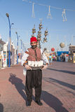 Wässern Sie Verkäufer am globalen Dorf in Dubai Lizenzfreies Stockbild