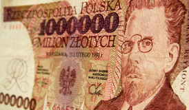 Władysław Reymont Polish banknote. A banknote for one million zloty from Poland showing the nobel prize winning novelist Władysław Reymont Royalty Free Stock Images
