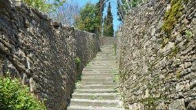 Włoch bergamo Antyczni kamienni schodki które prowadzą od niskiego miasta stary jeden zbiory wideo