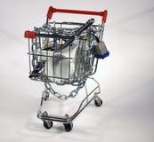 wózek bezpiecznie na zakupy Obrazy Stock