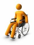 wózek inwalidzki royalty ilustracja