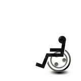 wózek inwalidzki Obrazy Royalty Free