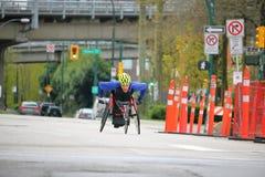 Wózek inwalidzki atleta Podczas 2017 Vancouver słońca bieg rasy Fotografia Royalty Free