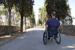 Wózek inwalidzki Droga Zdjęcia Stock