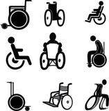 Wózek inwalidzki ikony Zdjęcie Stock