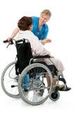 wózek inwalidzki kobieta Zdjęcie Stock