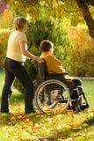 wózek inwalidzki kobieta Fotografia Royalty Free