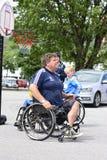 Wózek inwalidzki koszykówka Zdjęcie Royalty Free