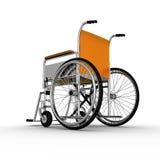 Wózek inwalidzki odizolowywający na białym tle Zdjęcie Royalty Free