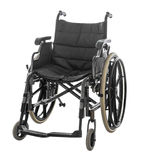 Wózek inwalidzki odizolowywający na białym tle z ścinek ścieżką obrazy stock