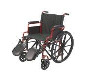 wózek inwalidzki odosobniony biel Obrazy Royalty Free