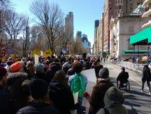 Wózek inwalidzki przy Marzec dla Nasz żyć, NYC, NY, usa Zdjęcia Royalty Free