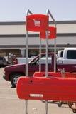 wózek na zakupy do znaków Obrazy Stock