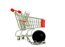 Wózek Na Zakupy i łańcuch piłka Zdjęcie Royalty Free