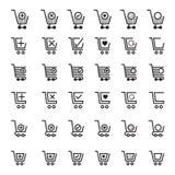 Wózek Na Zakupy ikony Zdjęcie Stock