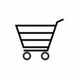 Wózek na zakupy ikony wektorowy projekt Obrazy Royalty Free