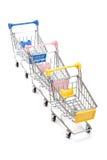 Wózek na zakupy na bielu Obraz Royalty Free