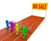 Wózek na zakupy rasa Fotografia Stock