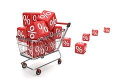 Wózek Na Zakupy sprzedaży sześciany ilustracja wektor