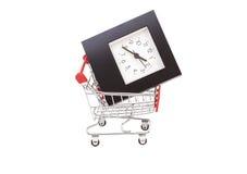 Wózek Na Zakupy z Budzikiem Zdjęcie Royalty Free