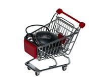 Wózek na zakupy z komputerową myszą obraz royalty free