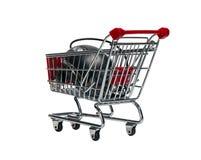 Wózek na zakupy z komputerową myszą Zdjęcia Stock