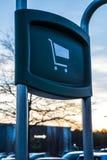 Wózek na zakupy znak Zdjęcia Royalty Free