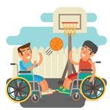 Wózków inwalidzkich sporty Obrazy Royalty Free