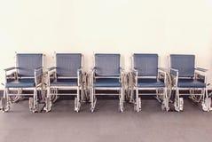 Wózka inwalidzkiego dostępny Wykładający up w szpitalu Zdjęcie Royalty Free