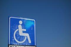 Wózka inwalidzkiego Dostępny znak zdjęcie stock