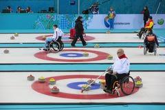 Wózka inwalidzkiego fryzowanie obraz royalty free