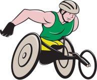 Wózka inwalidzkiego setkarza Ścigać się Fotografia Stock