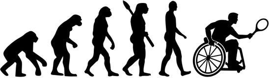 Wózka inwalidzkiego tenisa ewolucja royalty ilustracja
