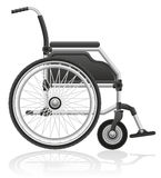 Wózka inwalidzkiego wektoru ilustracja ilustracji