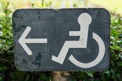 Wózka inwalidzkiego znak Fotografia Stock