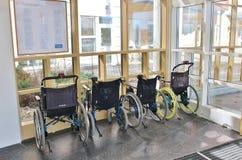 Wózki inwalidzcy w Sunderby szpitalu obraz royalty free
