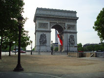 Wölben Sie die Flagge Triumphs Frankreich in Paris stockfotografie