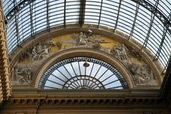 Wölben Sie sich innerhalb der Galerie Principe Umberto I., Neapel, Italien Lizenzfreie Stockfotografie