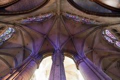 Wölbungen im Apse der Beauvais-Kathedrale Stockbilder