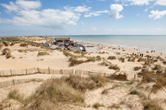 Wölbungssande, Wölbung: Dünen und der Strand Stockbild
