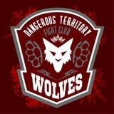 Wölfe - Militär beschriftet, Ausweise und Design Lizenzfreie Stockbilder
