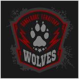 Wölfe - Militär beschriftet, Ausweise und Design Stockfotos