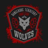 Wölfe - Militär beschriftet, Ausweise und Design Lizenzfreies Stockfoto