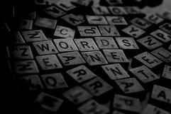 Wörter Stockfotos