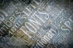 Wörter Stockbild