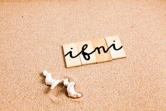 Wörter auf Sand ifni Lizenzfreie Stockbilder